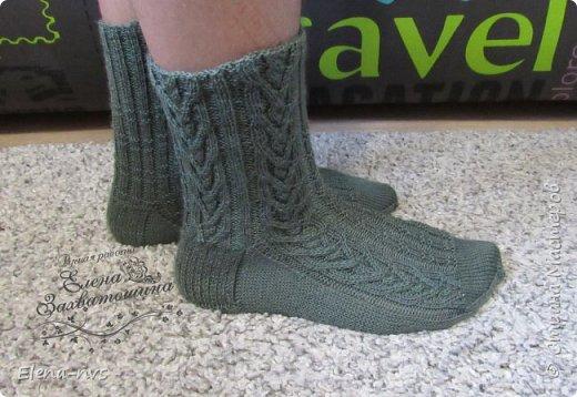 Мужские носки с аранами фото 4