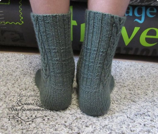 Мужские носки с аранами фото 5
