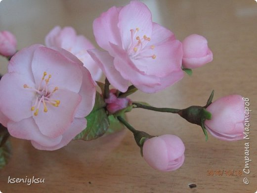сакура из полимерной глины фото 5