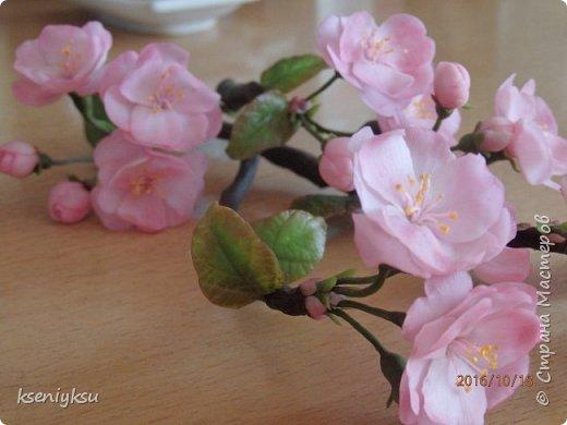 сакура из полимерной глины фото 12