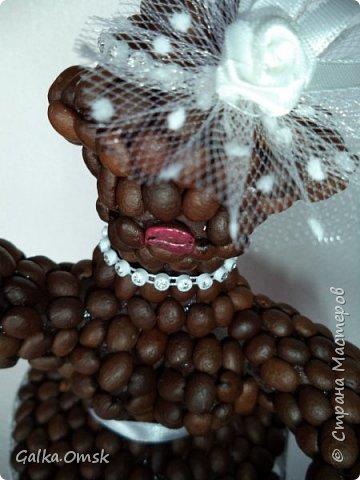 Эту скульптуру я создала для больших любителей кофе . На каркасе из проволоки  слепила фигуру балерины фото 5