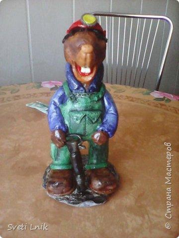 Представляю вашему вниманию статуэтки сделанные из соленого теста,на каркасе 1--Ослик-путешественник фото 8