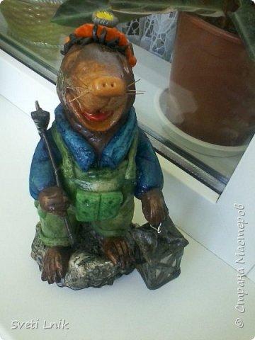 Представляю вашему вниманию статуэтки сделанные из соленого теста,на каркасе 1--Ослик-путешественник фото 3