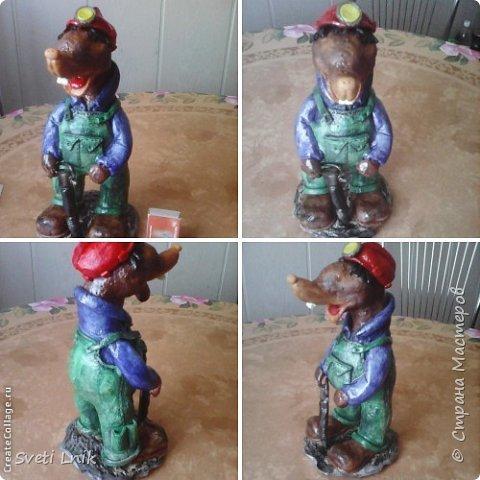 Представляю вашему вниманию статуэтки сделанные из соленого теста,на каркасе 1--Ослик-путешественник фото 9