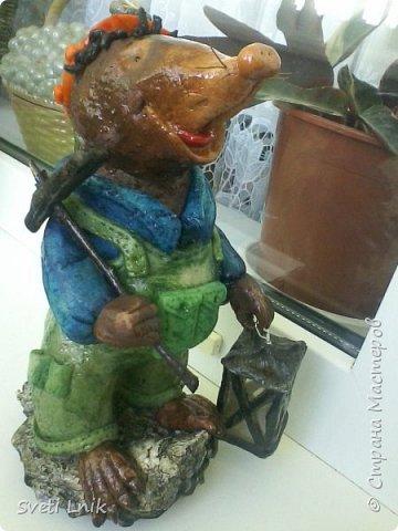 Представляю вашему вниманию статуэтки сделанные из соленого теста,на каркасе 1--Ослик-путешественник фото 4
