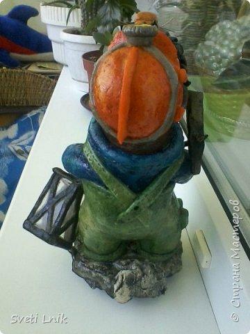 Представляю вашему вниманию статуэтки сделанные из соленого теста,на каркасе 1--Ослик-путешественник фото 5