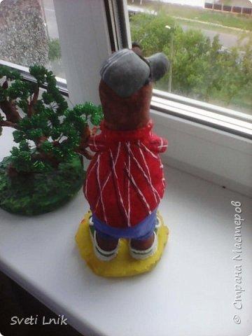 Представляю вашему вниманию статуэтки сделанные из соленого теста,на каркасе 1--Ослик-путешественник фото 7