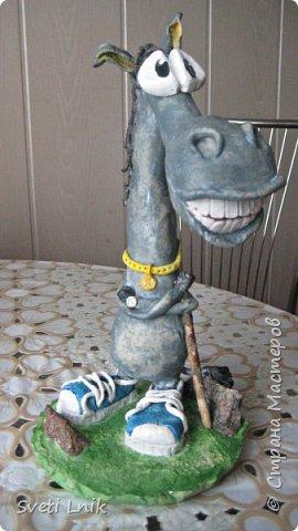 Представляю вашему вниманию статуэтки сделанные из соленого теста,на каркасе 1--Ослик-путешественник фото 2