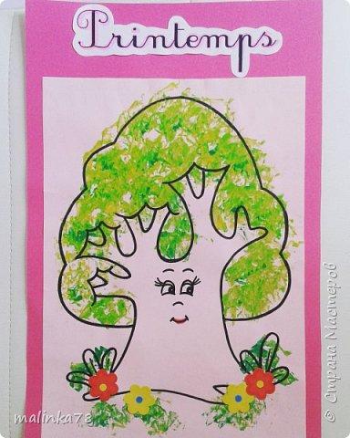 Крону деревьев делали  с отпечатками смятой бумаги. фото 3