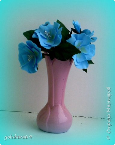 Букетик цветочков из фома.