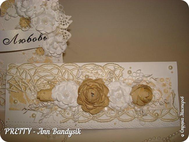 Свадебный комплект. Открытка+конверт для денег. фото 19