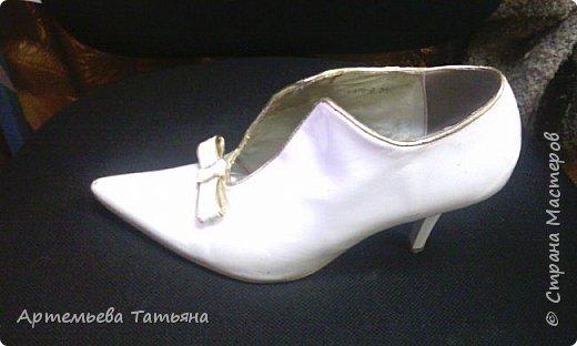 """Со старыми, но любимыми  туфлями жаль было расставаться. Решила дать им вторую жизнь. Это вторая моя работа с туфлями в  технике  """"Декупаж""""  Назвала я ее   - """"Маки"""" .   фото 3"""