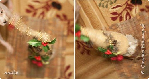 потихонечку начала готовиться к Новому году. Первая попытка сделать елку из сизали. С горшком да, перестаралась)) фото 3