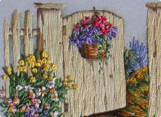 """Дорогие Мастера! Представляю на Ваш суд мои новые 2 вышивки. Первая на принте -  сельский пейзаж в маках :-) Ну, назвала """"Маковое цветение"""". Размер 215*180 мм. Картинка под стеклом. фото 7"""