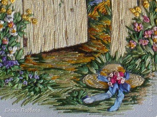 """Дорогие Мастера! Представляю на Ваш суд мои новые 2 вышивки. Первая на принте -  сельский пейзаж в маках :-) Ну, назвала """"Маковое цветение"""". Размер 215*180 мм. Картинка под стеклом. фото 8"""