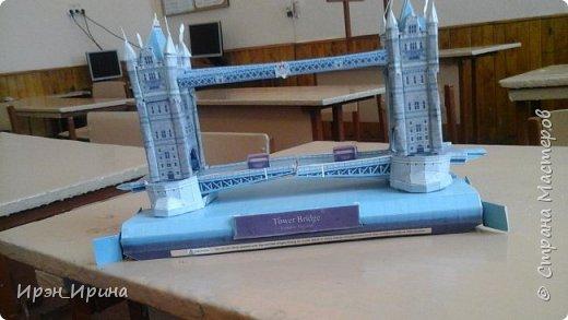 Модель Тауэрского моста сделали с детьми после уроков. Детали к модели распечатали с интернета. фото 2