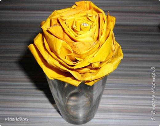 Роза из листьев Клена. Как сделать цветок