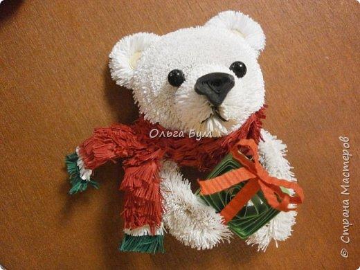 """Вчера выпал ПЕРВЫЙ СНЕГ! И вчера он растаял. У меня вчера """"выпал""""... белый медведь.  И вот он.  Давно """"собирался"""". И к Новому Году собрался! фото 3"""