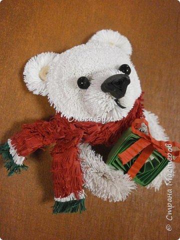 """Вчера выпал ПЕРВЫЙ СНЕГ! И вчера он растаял. У меня вчера """"выпал""""... белый медведь.  И вот он.  Давно """"собирался"""". И к Новому Году собрался! фото 1"""