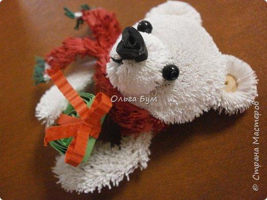 """Вчера выпал ПЕРВЫЙ СНЕГ! И вчера он растаял. У меня вчера """"выпал""""... белый медведь.  И вот он.  Давно """"собирался"""". И к Новому Году собрался! фото 5"""