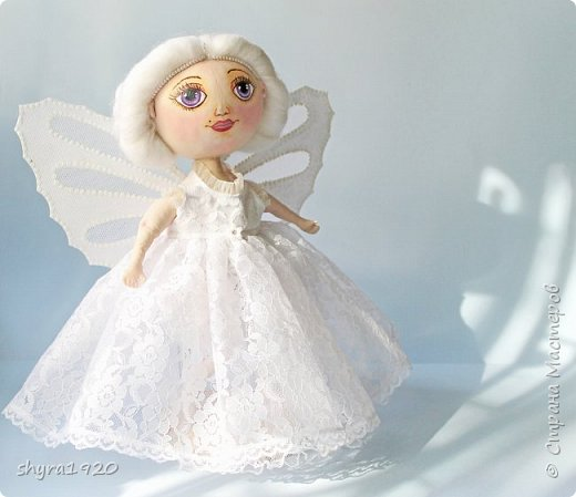 Новая серия кукол под названием БУЛИБОШЕЧКА. Куколка первая Нежный или Снежный Ангел. фото 2