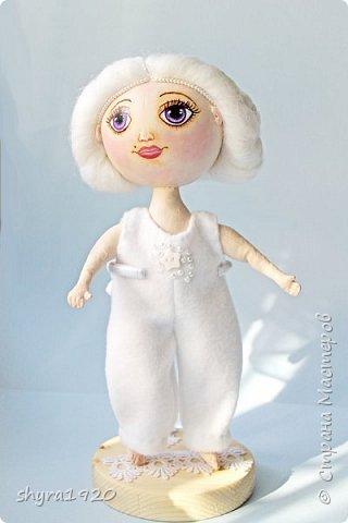 Новая серия кукол под названием БУЛИБОШЕЧКА. Куколка первая Нежный или Снежный Ангел. фото 15