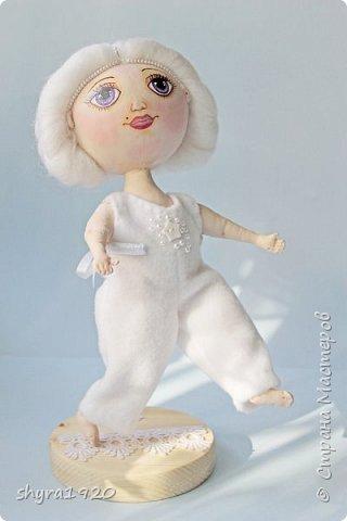 Новая серия кукол под названием БУЛИБОШЕЧКА. Куколка первая Нежный или Снежный Ангел. фото 16