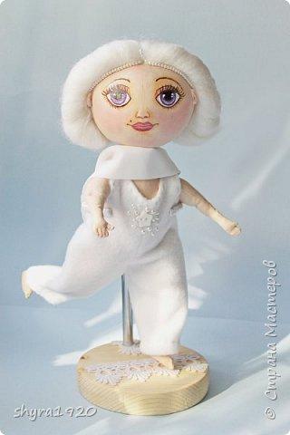Новая серия кукол под названием БУЛИБОШЕЧКА. Куколка первая Нежный или Снежный Ангел. фото 18