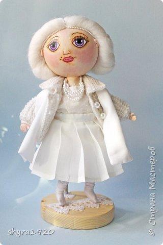 Новая серия кукол под названием БУЛИБОШЕЧКА. Куколка первая Нежный или Снежный Ангел. фото 26