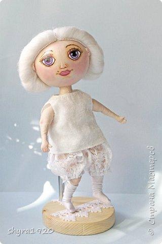 Новая серия кукол под названием БУЛИБОШЕЧКА. Куколка первая Нежный или Снежный Ангел. фото 21