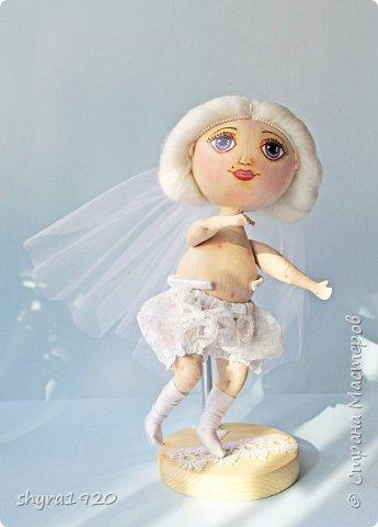 Новая серия кукол под названием БУЛИБОШЕЧКА. Куколка первая Нежный или Снежный Ангел. фото 11