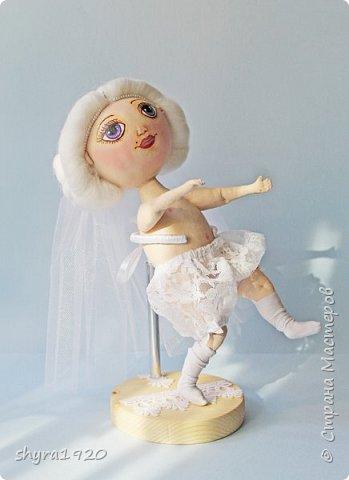 Новая серия кукол под названием БУЛИБОШЕЧКА. Куколка первая Нежный или Снежный Ангел. фото 12