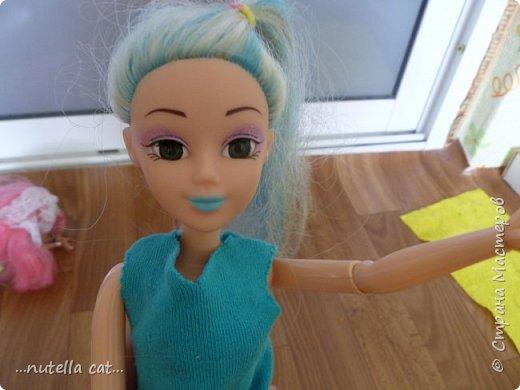 Дратути! я тут немного у себя порылась... и хопля! на тебе материал! про лето.( верните лето)  тут у нас новая кукла, синяя, Каммила! ( обожаю в именах по 2 одинаковые буквы))) фото 6