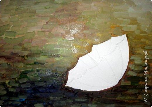 Осень не отпускает, поэтому продолжаю осеннюю тему.  В слякотную, дождливую погоду необходимой вещью является зонтик, вот его и предлагаю нарисовать. фото 4
