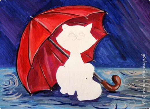 Осень не отпускает, поэтому продолжаю осеннюю тему.  В слякотную, дождливую погоду необходимой вещью является зонтик, вот его и предлагаю нарисовать. фото 20