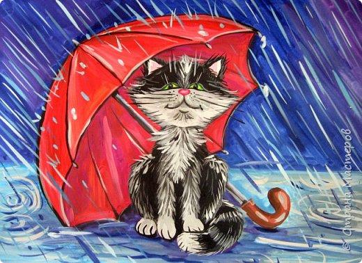 Осень не отпускает, поэтому продолжаю осеннюю тему.  В слякотную, дождливую погоду необходимой вещью является зонтик, вот его и предлагаю нарисовать. фото 22