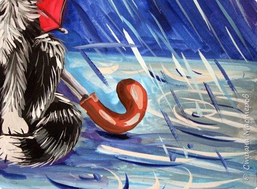 Осень не отпускает, поэтому продолжаю осеннюю тему.  В слякотную, дождливую погоду необходимой вещью является зонтик, вот его и предлагаю нарисовать. фото 23