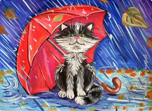 Осень не отпускает, поэтому продолжаю осеннюю тему.  В слякотную, дождливую погоду необходимой вещью является зонтик, вот его и предлагаю нарисовать. фото 18