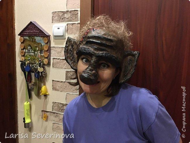 Вот такая маска у меня получилась.В технике папье маше фото 1
