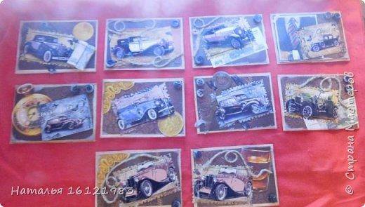 Эту серию сделала из того, что было дома: лист скрапбумаги, распечатки картинок, вырубка, пуговки, шпагат.... Выбирают участники совместника: http://stranamasterov.ru/node/1055187 фото 1