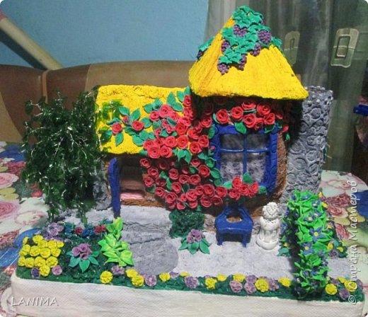 первый мой домик,сделан по мастер классу мамы ангелы http://stranamasterov.ru/user/111432  фото 1