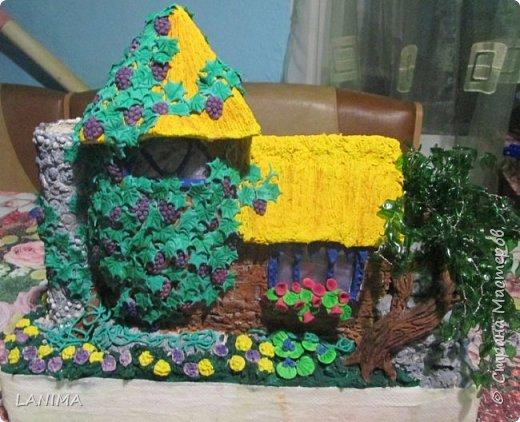 первый мой домик,сделан по мастер классу мамы ангелы http://stranamasterov.ru/user/111432  фото 2