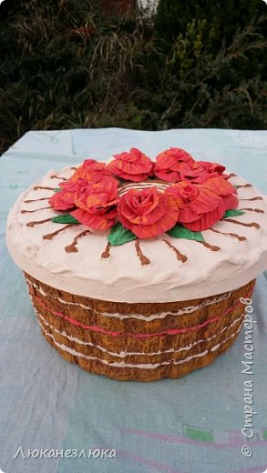 Доброе время суток,друзья!!! Вот такой у меня декоративный торт получился... фото 1