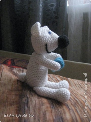 """Заразила"" меня коллега по работе вязанием игрушек... Автор этого зайки Екатерина Савенкова. фото 4"
