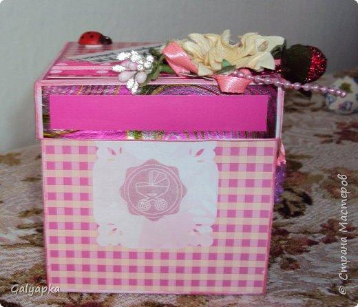 Моя вторая в жизни коробочка сделана по МК Alena090382 http://stranamasterov.ru/user/78960 Все надписи из Интернета. Картинки по бокам у этой коробочки сделаны штампами купленными мной на сайте Совместные покупки. фото 2