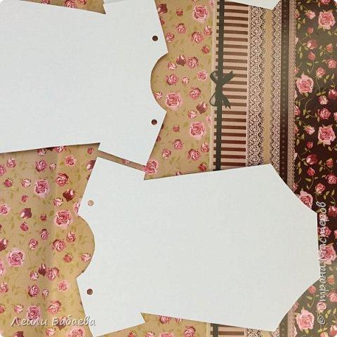 Альбом для девочки с мягкой тканевой обложкой. Выполнен в стиле скрапбукинг. Размер 20х17 см, 8 разворотов. фото 3
