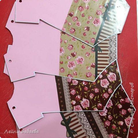 Альбом для девочки с мягкой тканевой обложкой. Выполнен в стиле скрапбукинг. Размер 20х17 см, 8 разворотов. фото 4
