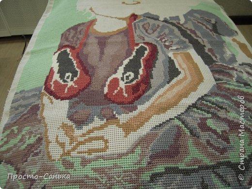 Всем доброго времени суток!Матронушку я вышивала 1.5-2 года назад и мне очень стыдно что она до сих пор не в раме фото 10