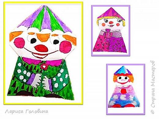 Увидела у Натальи Свиридовой замечательные обаятельные игрушки оригами. http://stranamasterov.ru/node/1048597 Пока попробовали только грибок и клоуна. Спасибо, Наталья, за чудесные идеи фото 3
