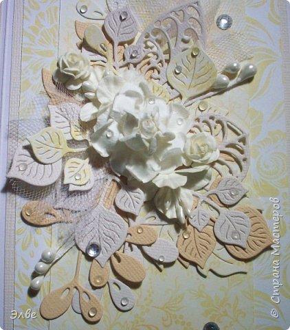 В конце июля у моего единственного племянника была свадьба. С радостью сделала для молодых открыточку. фото 2